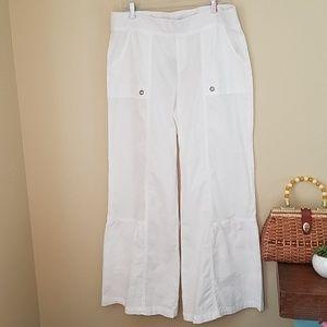 XCVI white cotton palazzo pants
